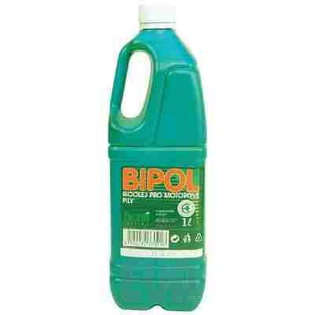 Biologicky odbouratelný olej 1 l vhodný na mazání lišt a řetězů motorových pil MTD BIPOL
