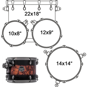SNM524XBSWV DRUMSET MAPEX