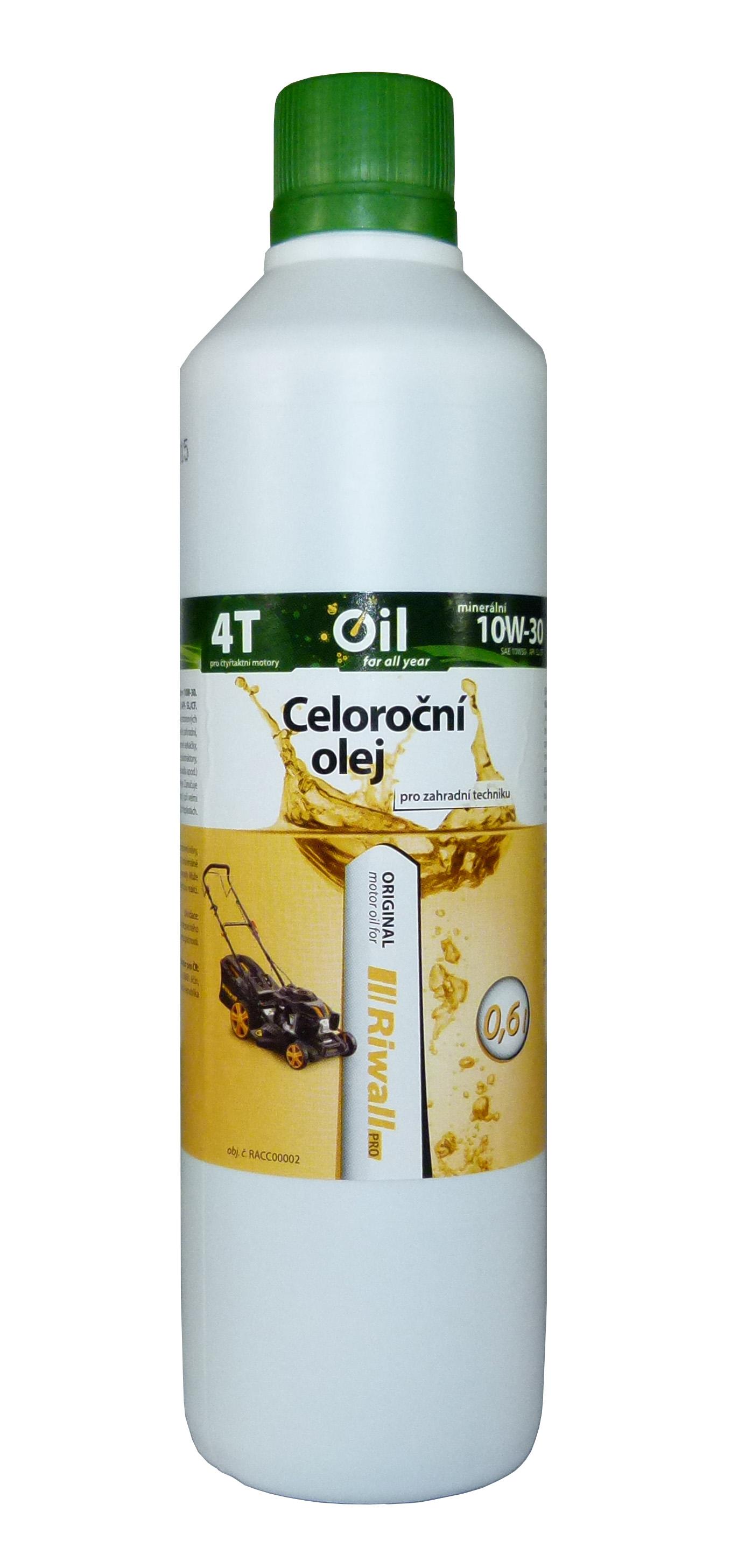 Celoroční olej Riwall pro 4-taktní motory (0.6l, SAE10W-30)